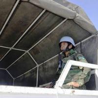 Segundo-Tenente Débora Ferreira de integrar uma tropa em missão de paz - Foto: MB