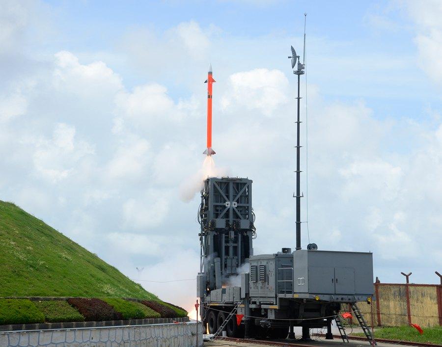 Barak-8 during test