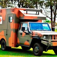 GRALE estreia a Nova Geração Militar do Marruá VTNE ½ ton Ambulância UTI de 14 m3  Foto - Julio Soares