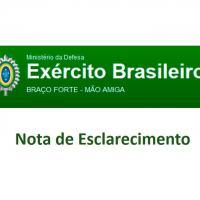 Exército Brasileiro - Nota de Esclarecimento