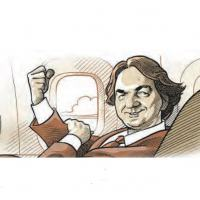 Joesley imitando o gesto do personagem Marco Aurélio, vivido pelo ator Reginaldo Faria na novela Vale Tudo . Arte O Estado de Minas