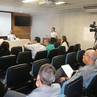 Jornalistas da MB fizeram perguntas sobre a operação - Foto: NOMAR / MB