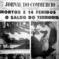 Jornal do Commercio de Recife noticiando o atentado.