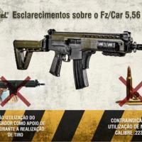 IMBEL Comunicado 02 Empunhadura correta do Fz 5.56 1A2 durante o tiro