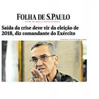 O Comandante do Exército, General Eduardo Villas Bôas, afirma que a saída para a crise do país