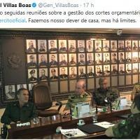 Reprodução do twitter do Gen Ex Villas Boas