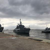 """orveta """"Spiro"""", da Argentina, atracando na Base Naval do Rio de Janeiro (RJ) - Foto: MB"""