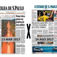 Editorial - Folha de São Paulo e O Estado de São Paulo apresentam dados totalmente opostos