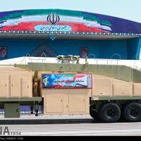 O sistema Míssil Balístico Khorramshar apresentado em Teerã, no dia 22 Setembro 2017. Foto - IRNA