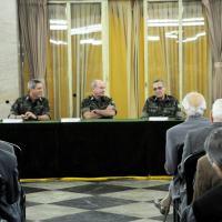 Oficiais Generais da Ativa e da Reserva da Área do Rio de Janeiro participaram de uma reunião com o Comandante do Exército, General de Exército Eduardo Dias da Costa Villas Bôas, na manhã de 26 de setembro. Foto Sd Frade CML