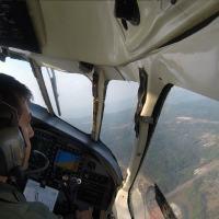 Piloto do 1º ETA realiza circuito de lançamento - Foto: 1º ETA / FAB