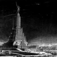 Palácio stalinista inacabado na Rússia