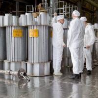 Reservatórios para o transporte de urânio na central nuclear Majak, na Rússia