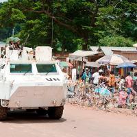 Soldados marroquinos da MINUSCA em Bangui, na República Centro-Africana. Foto: ONU/Catianne Tijerina