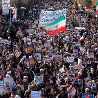 Manifestação pró-governo do Irã Agência Tasnim/via REUTERS