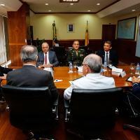 Reunião do Conselho Militar de Defesa, no Ministério da Defesa, 22 Fevereiro 2018. Foto - MD