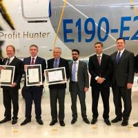 It is the first time that an aircraft program with the level of complexity of the E2 receives a type certificate from three major worldwide certification authorities simultaneously: FAA, EASA, ANAC