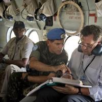 Gen Santos Cruz em missão para o levantamento dos dados do relatório
