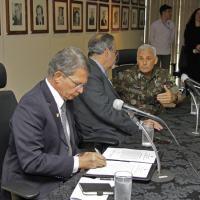 A assinatura do Plano ocorreu na sede da Justiça - Foto: Keven Cobalchini/MD