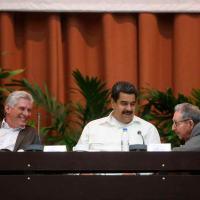 Castrochavismo anuncia reação continental. Raul Castro, Nicolas Maduro e o Presidente de Cuba Miguel Diaz-Canel.