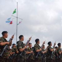 Operação Guarani - Solenidade em Santa Maria marca início do exercício combinado