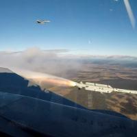 Firing missil Iris-T desde o Gripen E, 39-8, Photo SAAB