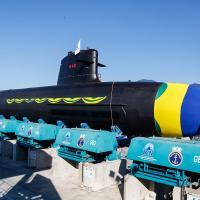 Launching of the Riachuelo, the first Brazilian Scorpène® submarine