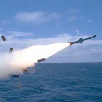 """Míssil Antinavio Nacional de Superfície MANSUP lançado da Corveta """"Barroso"""""""