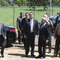 O novo ministro-chefe do GSI, Augusto Heleno, detalhou as ações do órgão, locais de treinamento e aspectos sobre sua atuação durante visita do presidente