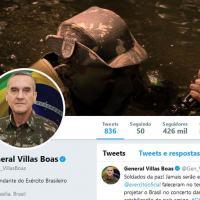 Capa do Twitter do General-de-Exército Eduardo Villas Boas