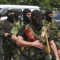 Mercenários ou Private Military Company Russos operando na Ucrânia.