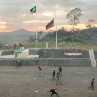 Marco fronteiriço entre Brasil e Venezuela no Sábado, 23FEV2019.