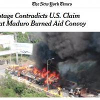 Em desespero para criar notícias favoráveis ao genocida Maduro, o NY Times, Globo e Folha sofrem apagón moral