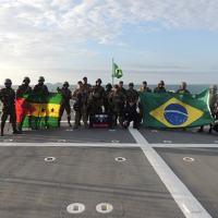 """Militares de São Tomé e Príncipe participaram de exercício a bordo do Navio Patrulha Oceânico """"Araguari"""""""