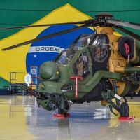 O helicóptero TA T129 ATAK em Taubaté na Aviação do Exército Foto Lucas Lacaz Ruiz - A13 / DefesaNet