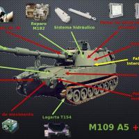 O obuseiro autopropulsado M109A5+ será peça central de exibição do estande da BAE Systems na LAAD 2019