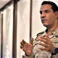(Arquivo) O porta-voz da coalizão militar liderada pela Arábia Saudita, coronel Turki Al-Maliki