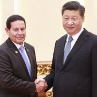 O VP Hamilton Mourão e o Presidente da República da China Xi Jinping.