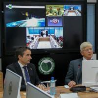 Censipam e espanhóis acompanham apresentação de resultados de testes com satélites
