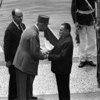 Presidente da França, general Charles de Gaulle, é recebido pelo presidente Castelo Branco em 1964