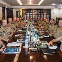 Reunião do Estado-Maior do Exército em Maio de 2019.