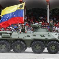 Tropas da FANB desfilam em Caracas em 05 Julho 2019.