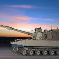 A imagem lateral do M109A7 com o tubo de 39 calibres que será substituído por um de 58 calibres (9,1m) Foto BAE Systems