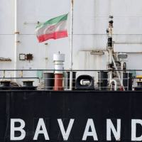 Um dos navio do Irã que esperava permissão para reabastecimento no porto de Paranaguá, PR.