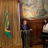Olavo de Carvalho recebe homenagem na embaixada brasileira em Washington. Foto: /Embaixada Brasileira em Washington