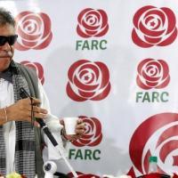 Ex-comandante das Farc Jesús Santrich em entrevista coletiva em Bogotá 16/11/2017 REUTERS/Jaime Saldarriaga