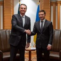 Na reunião entre os presidentes Jair Bolsonaro e Volodymyr Zelenskiy a Ucrânia confirmou notícia exclusiva de DefesaNet