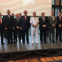 Autoridades e representantes da indústria no evento do lançamento do Cluster Naval no Rio de Janeiro. Foto Nelza Oliveira - Especial para DefesaNet
