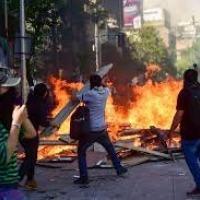 Manifestações no Chile com forte influência externa da esquerda