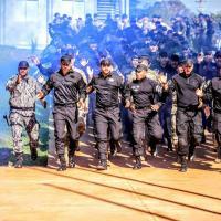 Ao todo 115 policiais participam do evento em comemoração aos 15 anos da Força Nacional de Segurança Pública